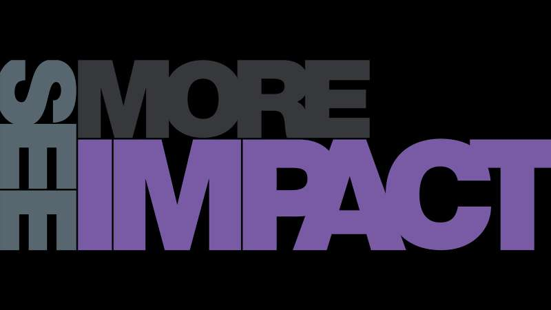 Image text: See more impact.